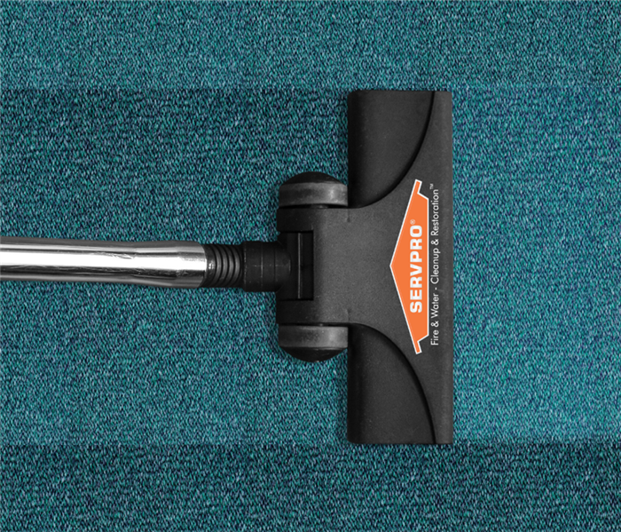 Carpet cleaner with SERVPRO logo