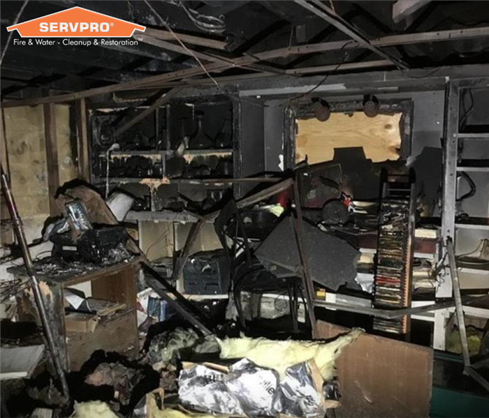 Inside of a home damaged by fire